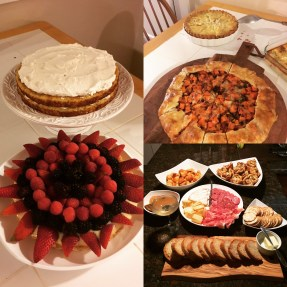 A few snapshots from a French themed dinner party I helped host/cooked for.