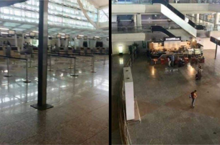 Eerie photos of an almost empty Bali airport have emerged on social media as locals say the tourism business has been devastated by the Coronavirus.