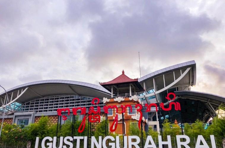 bali airport entrance sign