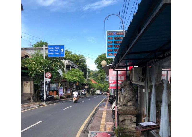 Image: Almost empty Ubud streets. Credit: FB Ken Yeh.