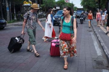 The Bali Provincial Tourism Office notes that foreign tourist arrivals have dropped about 95 percent.