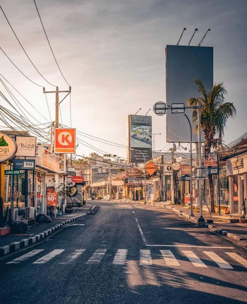 empty bali streets