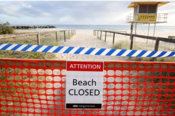 beaches closed favorite of aussi's