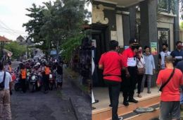 Large crowds sighted on first official day of restrictions in Denpasar