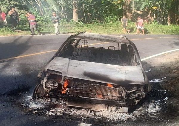 french citizen car burned