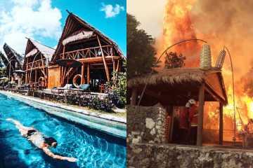 Toraja Bambu Boutique Hotel fire