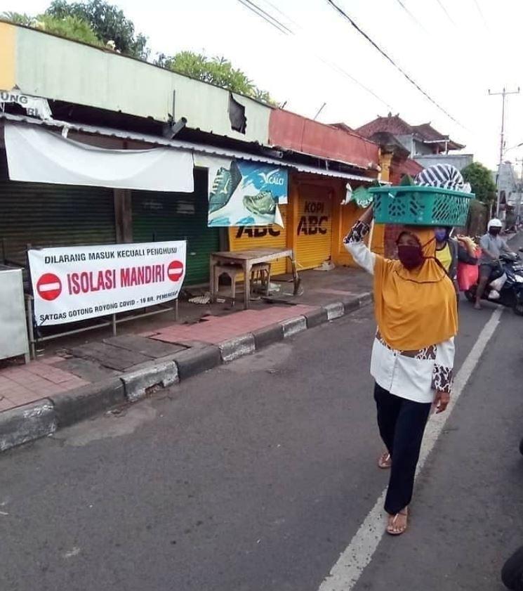 Bali local in street