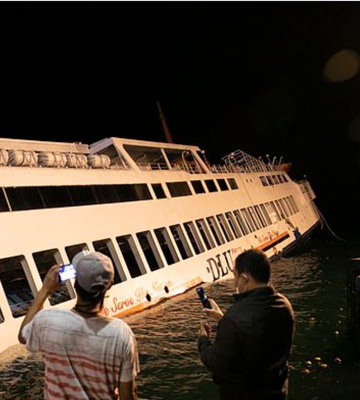 Ferry sinks in Water bali