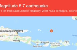 Powerful 5.7 Earthquake Near Lombok Shakes Bali