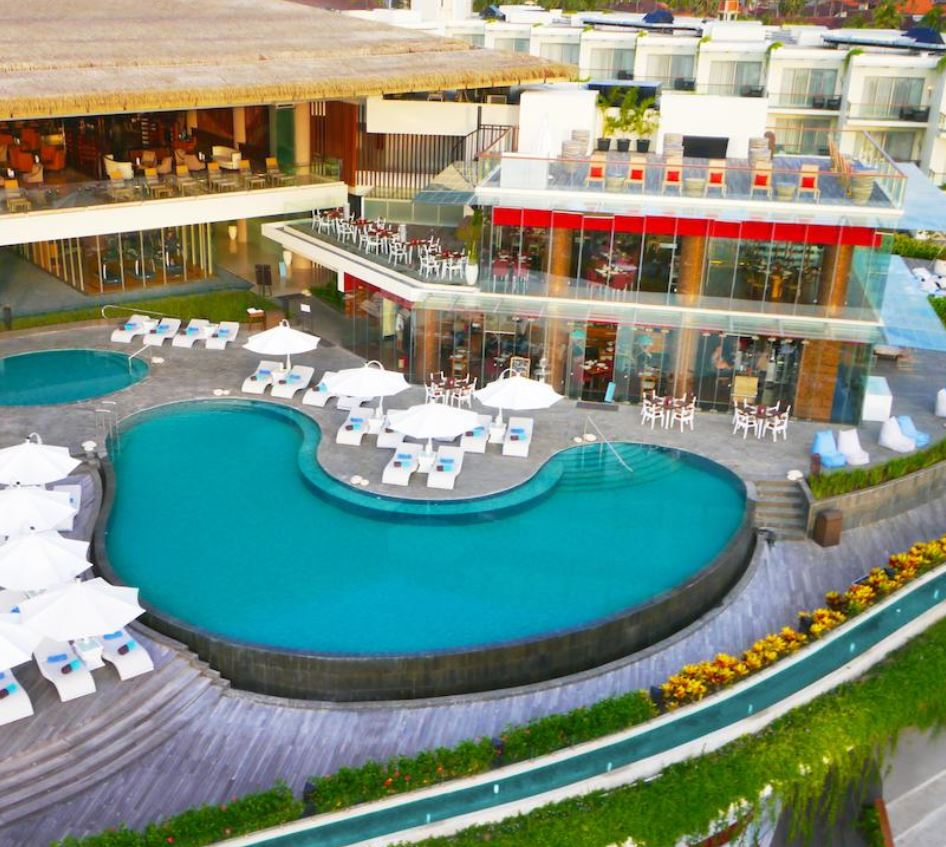 Sheraton Kuta Pool aerial view