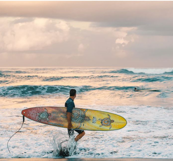 bali tourist surfer