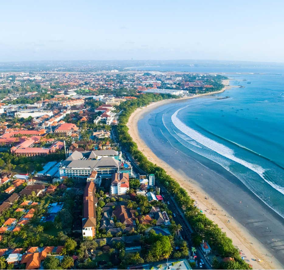 Kuta Beach Aerial view