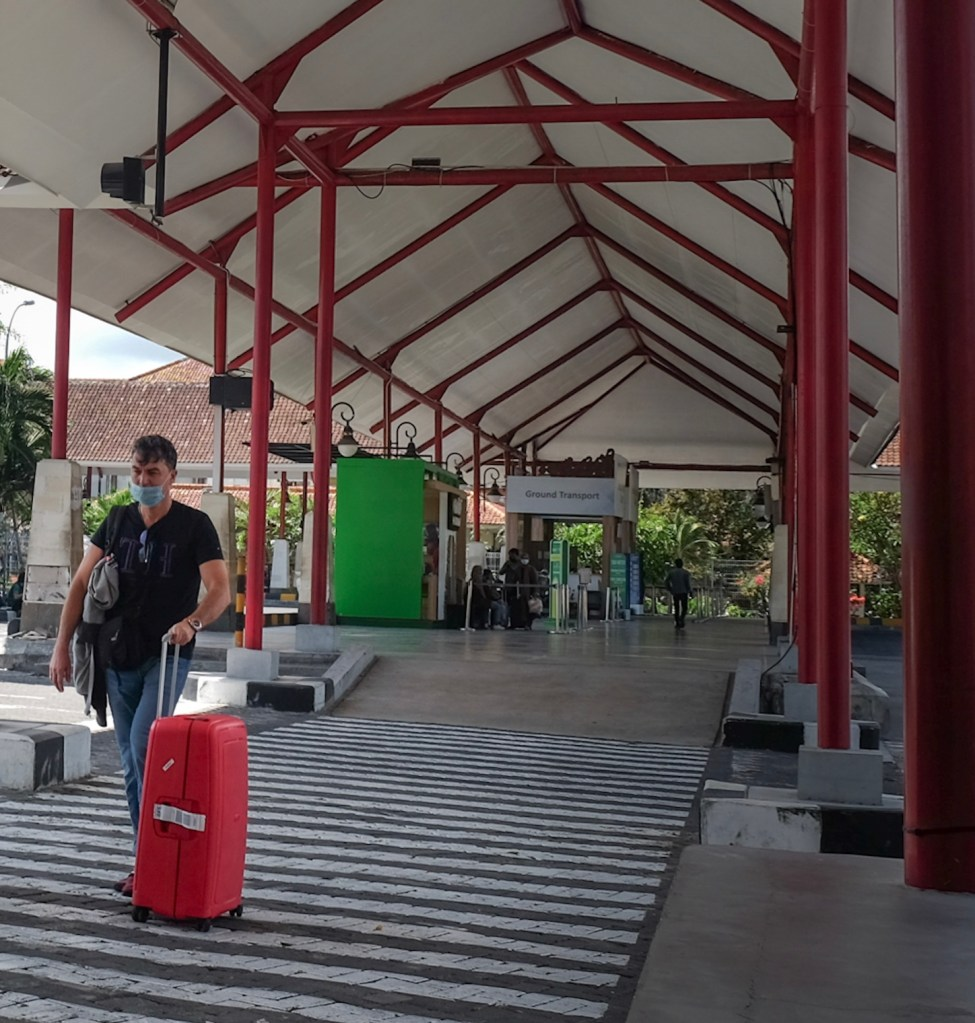 tourist arriving in Bali airport