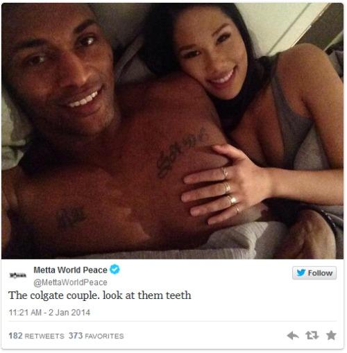 ron-artest-girlfriend-shin-shin-selfie