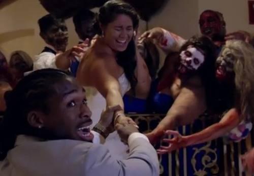 DeAngelo-Williams-wife-Risalyn-Walking-Dead-wedding-day-video-