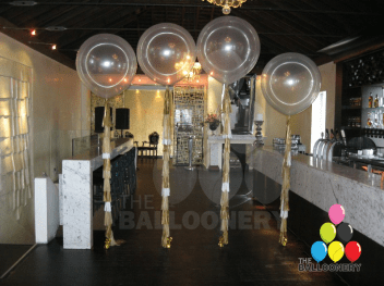 Clear Jumbo Balloons with Tassels