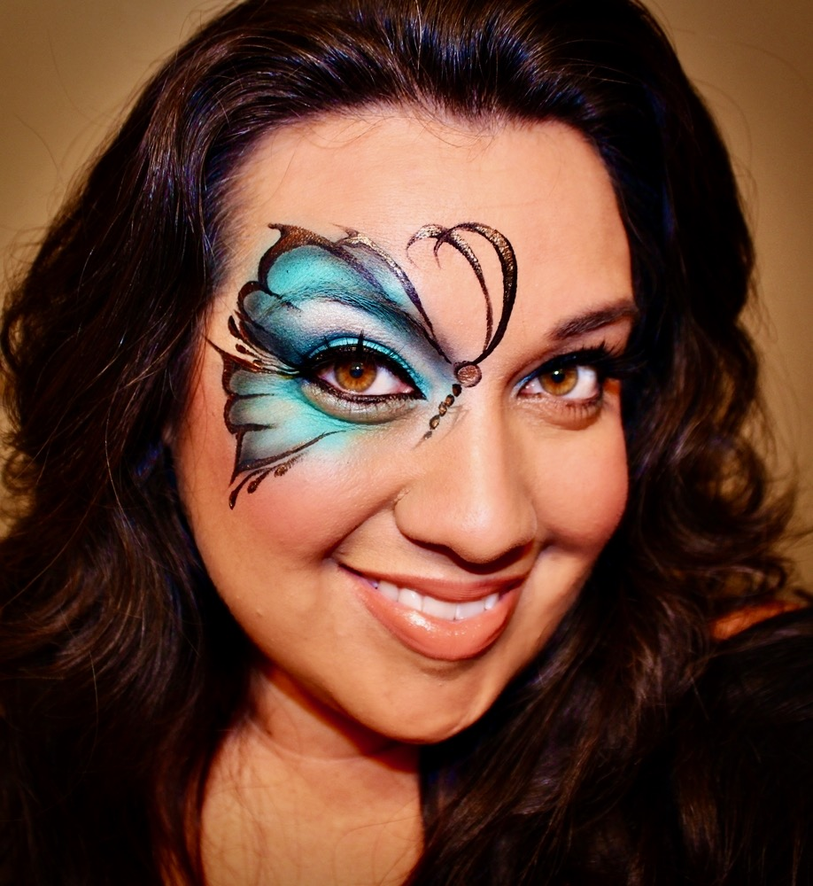 Airbrush Face Paint Butterfly by The BalloonGuyLA.com