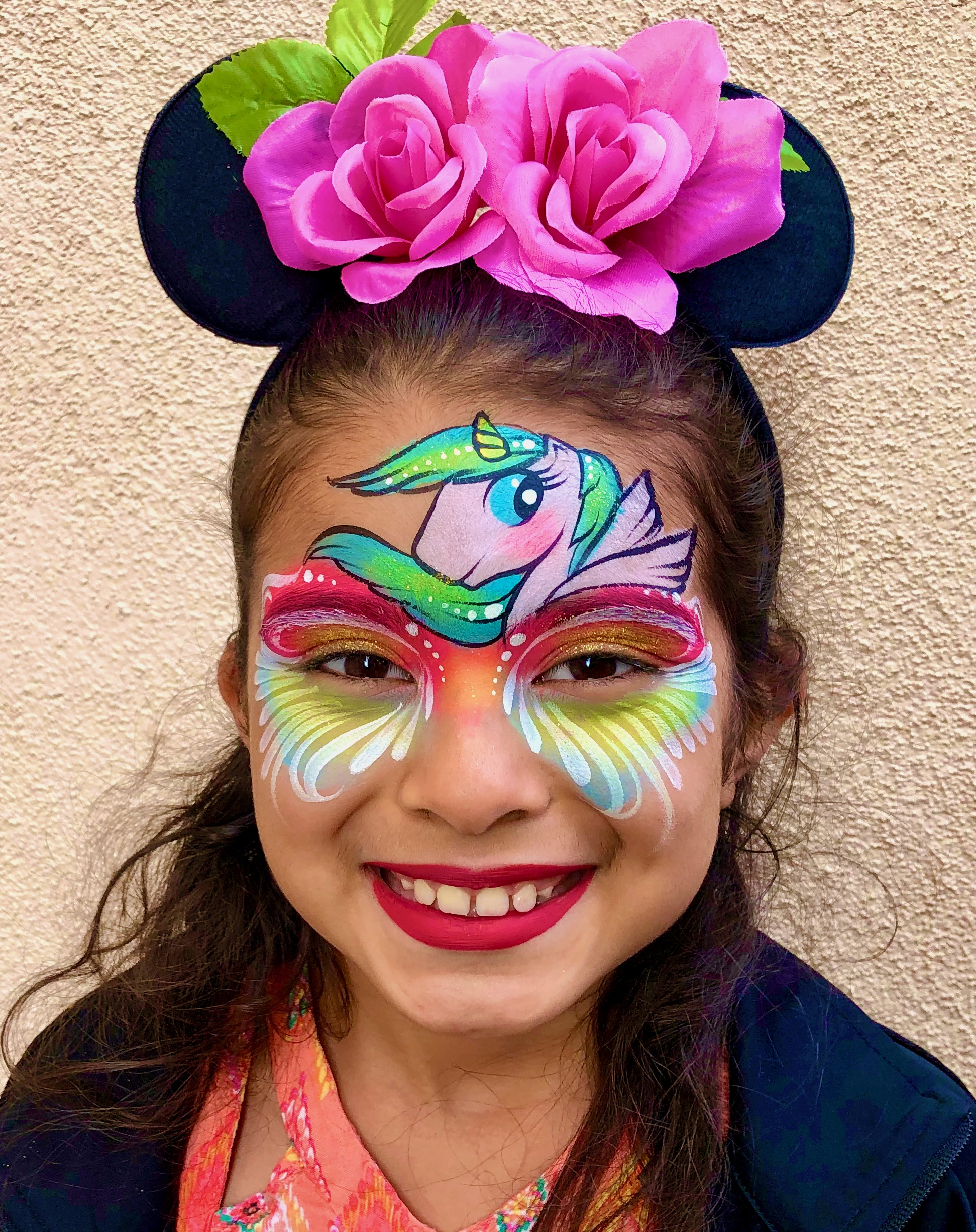Unicorn Face Paint by TheBalloonGuyLA.com