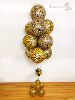Animal Print Balloon Bouquet - Tiger King Balloon Bouquet