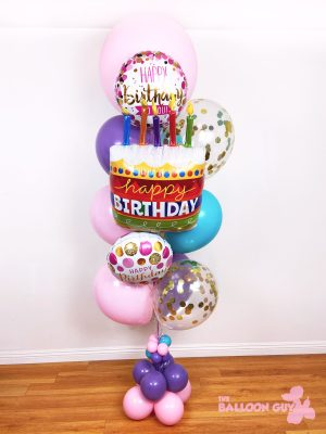 Happy Birthday Balloon Bouquet Pink