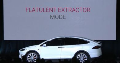 """Flatulent Extractor"" is latest in surprising string of updates for Tesla Model S"