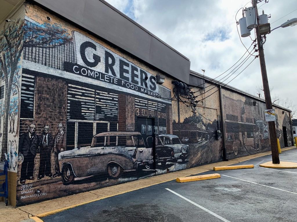 Side Of Greer'S Downtown Mural.