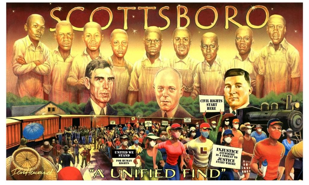 Scottsboro Boys Museum Mural By Don Howard
