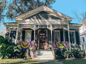 Decorated Mardi Gras Porch Parade Home - Mobile
