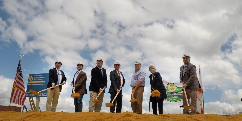 Governor Ivy Breaks Ground With Costal Growers At Site Of New Peanut Facility