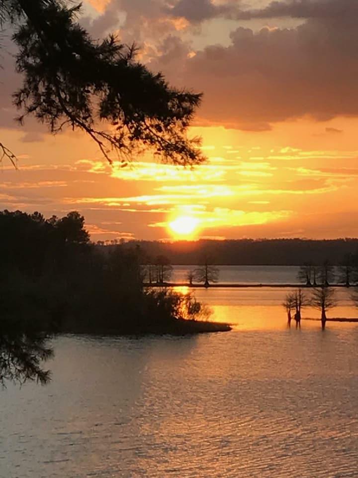 Sun Sets On Walter F George Lake
