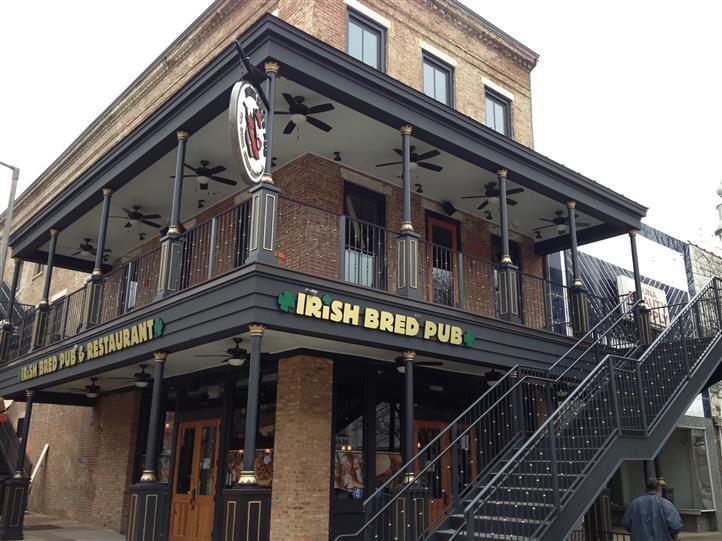 The Main Entrance To Irish Bred Pub.