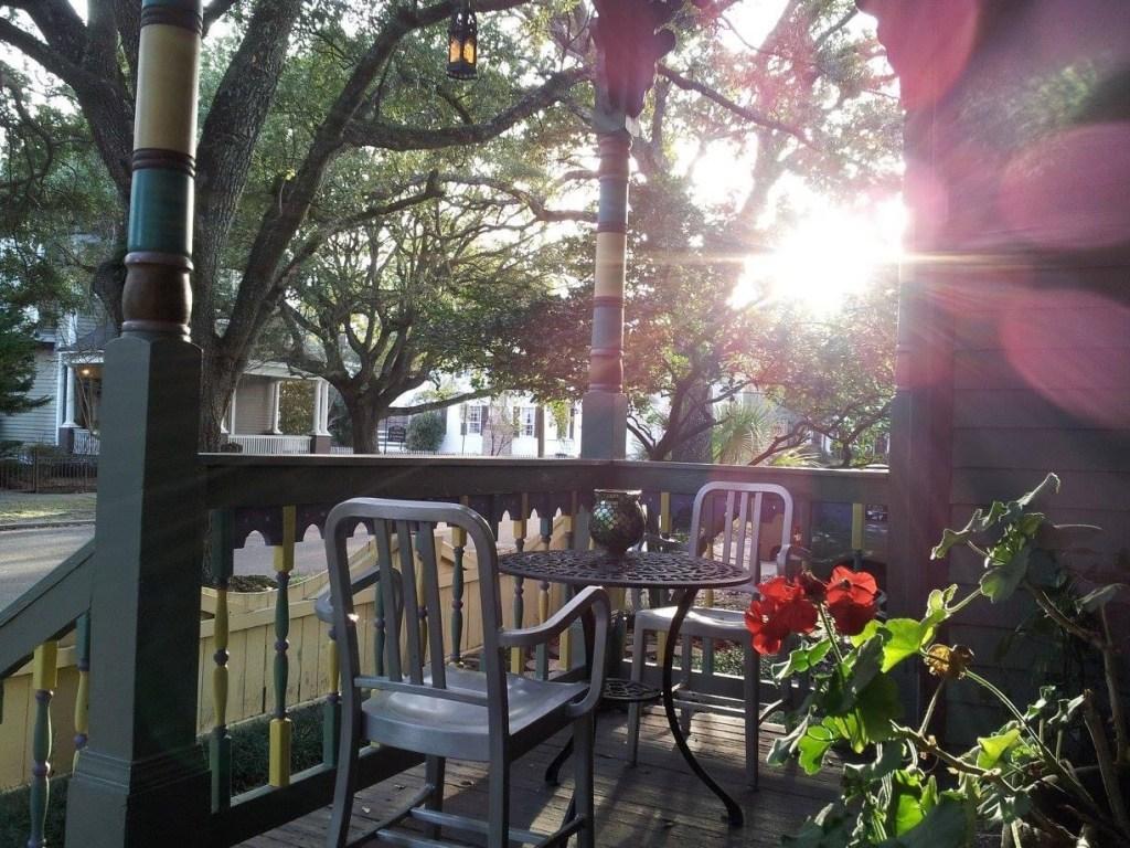 Porch Of Mardi Gras House