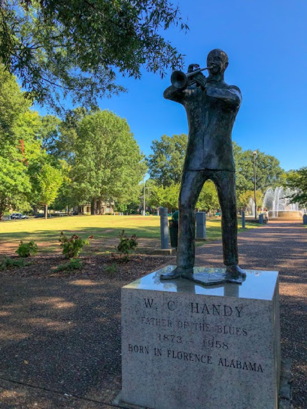 The Statue To Honor W.c. Handy In Florence.
