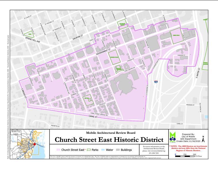 Church Street Historic District Map