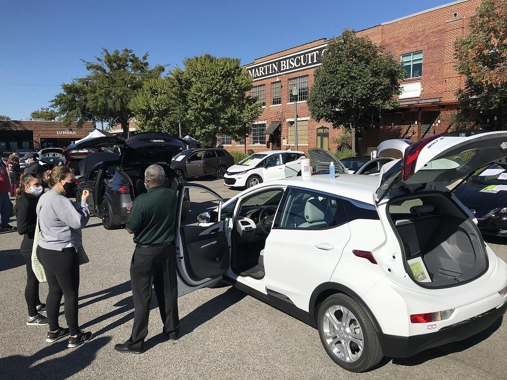Electric Car Show At Pepper Place.