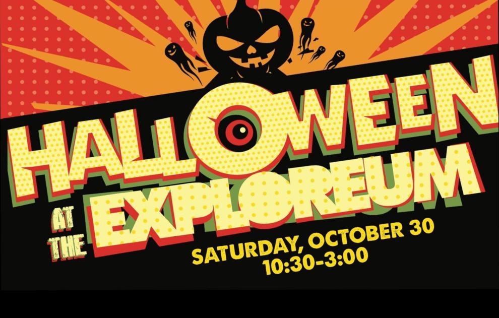 Halloween At The Explorium Poster