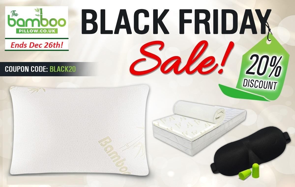 black friday deals bamboo pillow