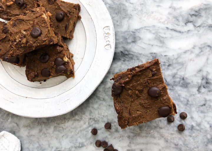 paleo vegan pumpkin sweet potato brownies