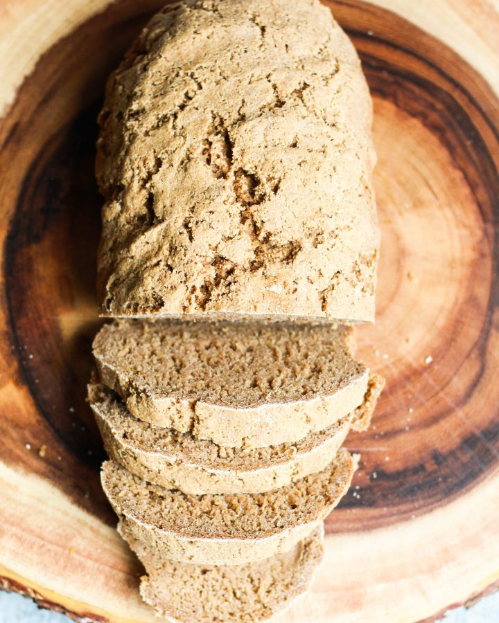 This is the best homemade bread that's completely vegan and made with sprouted flour! Plus, it's so easy to do on a Sunday morning!