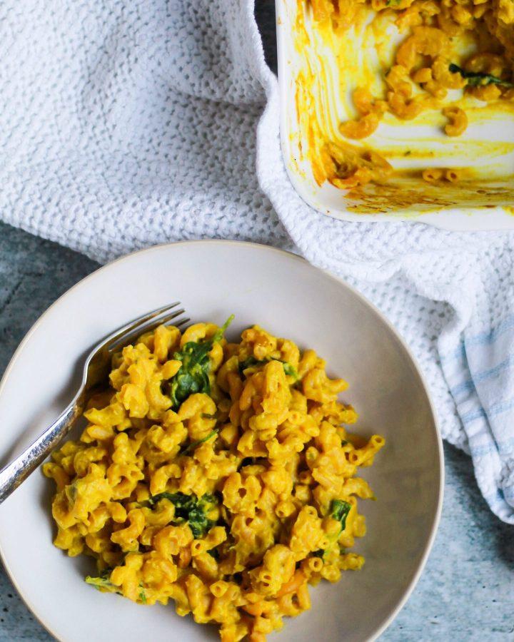 cauliflower vegan mac and cheese