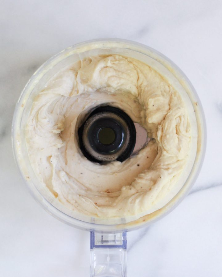 banana nice cream in food processor