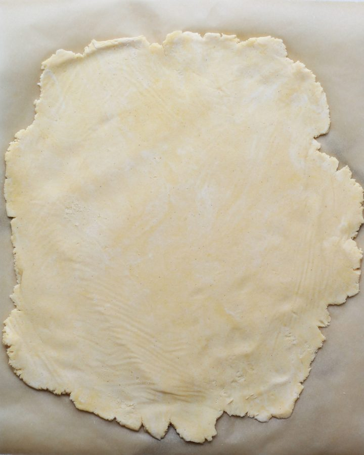 paleo pie dough rolled out