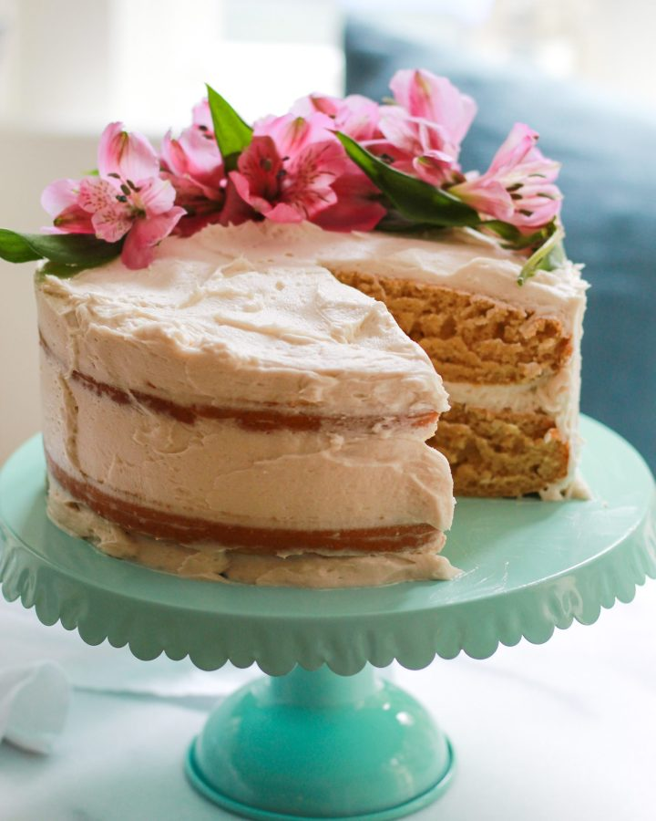 best vanilla cake sliced