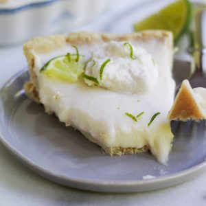 slice of vegan key lime pie