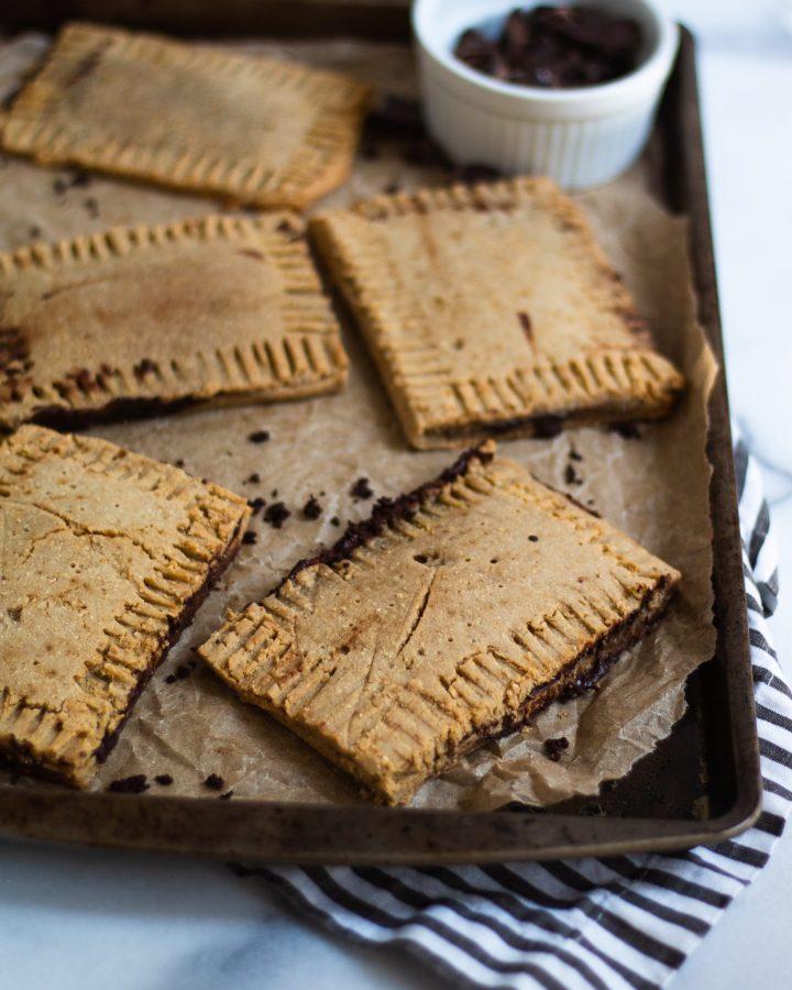 close up of baked paleo pop tarts
