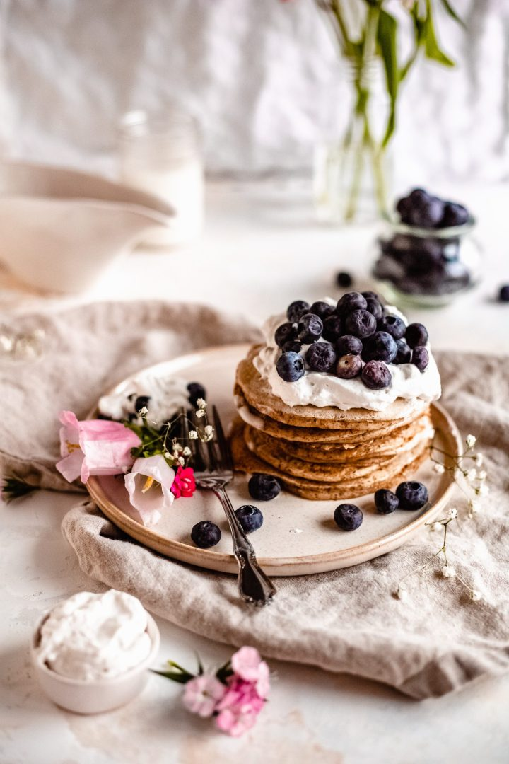 stack of healthy pancake