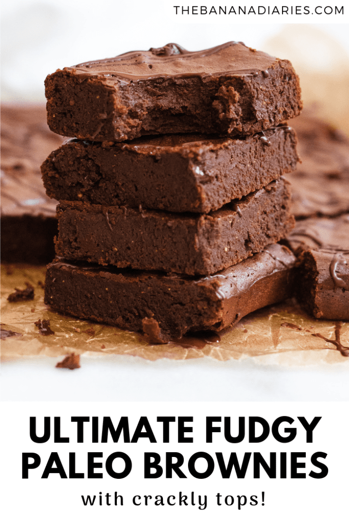 pinterest image for Paleo brownies