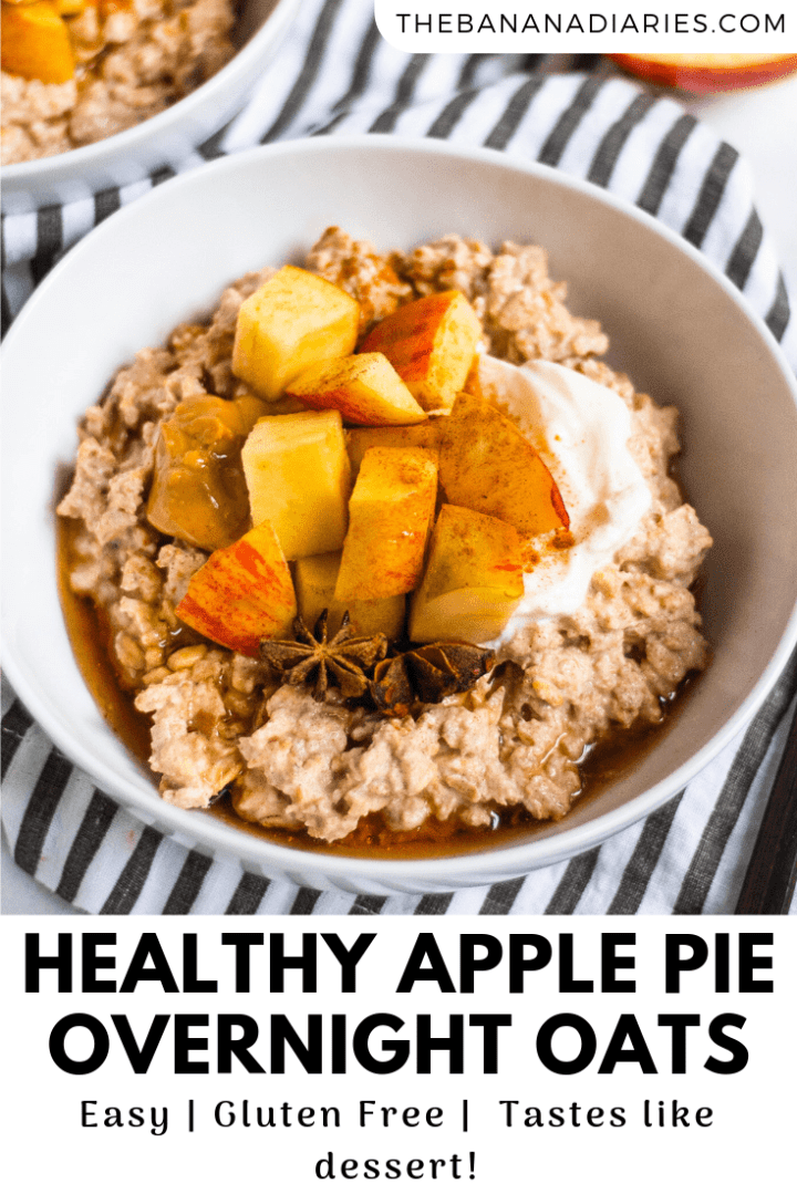 pinterest image for apple pie overnight oats