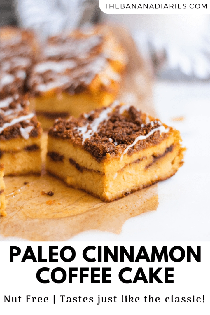 pinterest image for gluten free cinnamon coffee cake