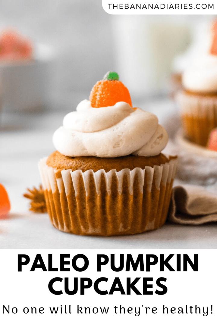 pinterest pin for pumpkin cupcakes